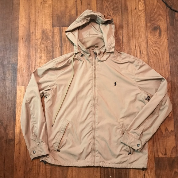 Polo Windbreaker Tan Polo Hooded Tan Windbreaker Hooded E29HID